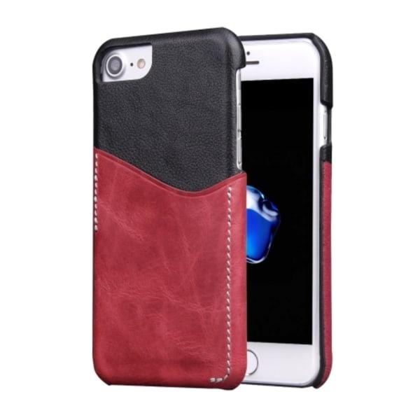 Skal av Ekologiskt Läder för iPhone 7 / 8 med kortficka Röd