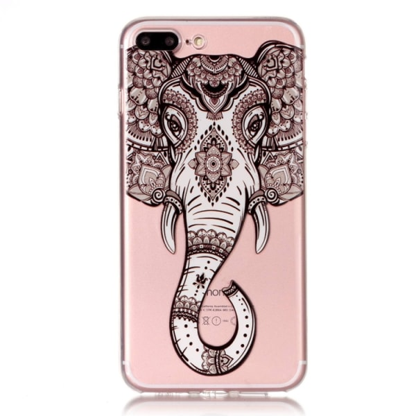 Skal med elefant - iPhone 8 plus multifärg