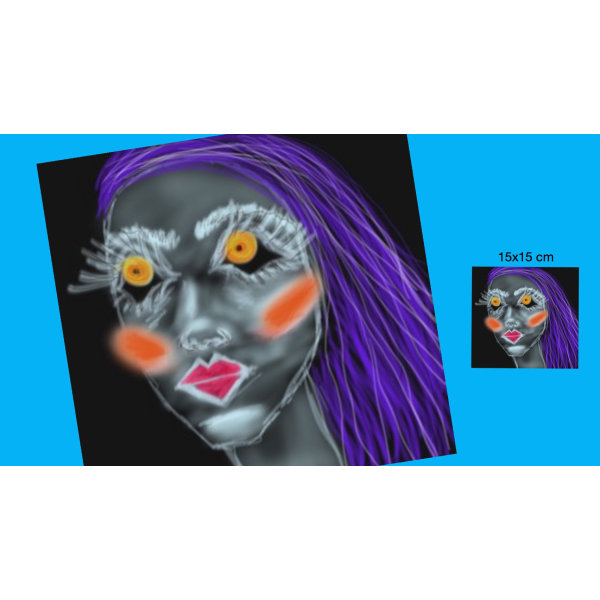 "X40 - ""AFF""- Art for feeling+ size 15x15 cm +"