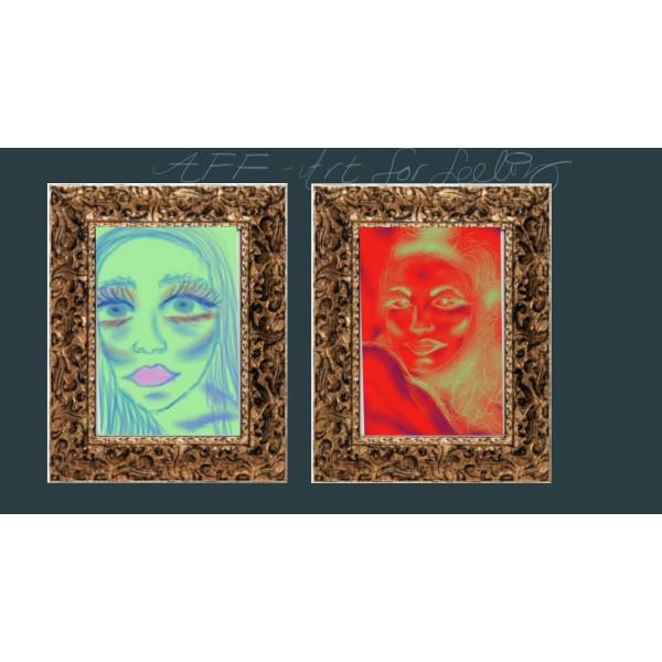 "X37 - ""AFF""- Art for feeling size 15x15 cm +"