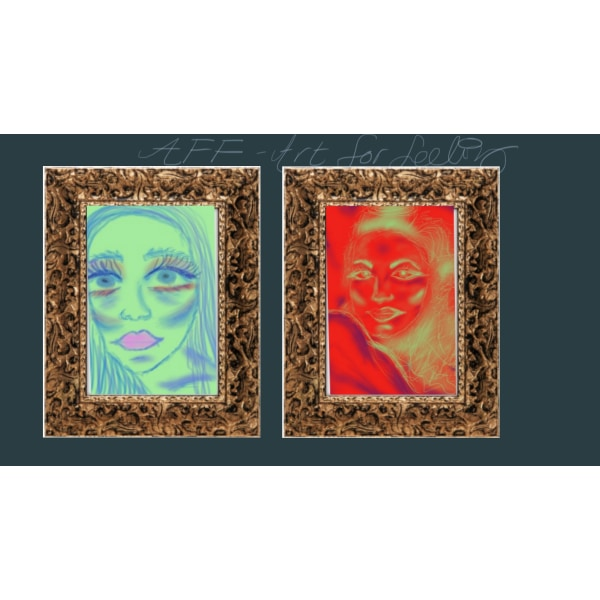 """X85 - """"AFF""""- Art for feeling size 29 x 21 cm (bild 1)+"""