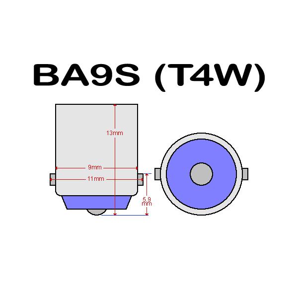 BA9S Led med 5st SMD5050 chip 2-pack T4W styling SilverGrey Röda 2-pack