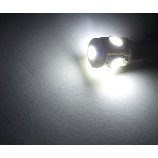 T10 w5w 6000k 4-pack Led lampor med 5st 5050SMD chip 12v DC 6000k vit 4-pack