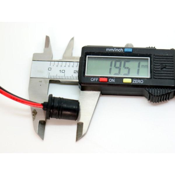 T10 w5w led / halogen kontakter / sockel fattning 2-pack mjuka Svart