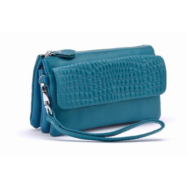 Snygg läderhandväska, 10 olika färger! Blå
