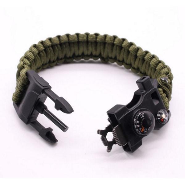 Survival Bracelet Grön