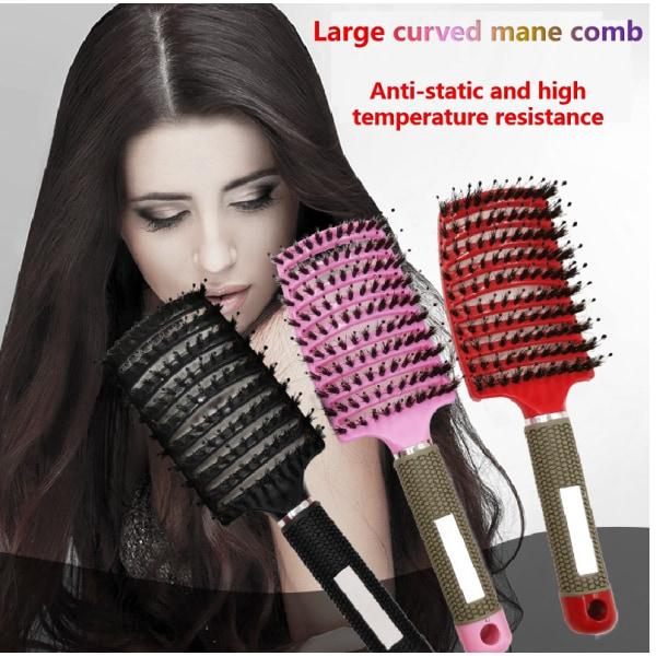 2 st Detangler kvinnor hårborste (vit och röd)
