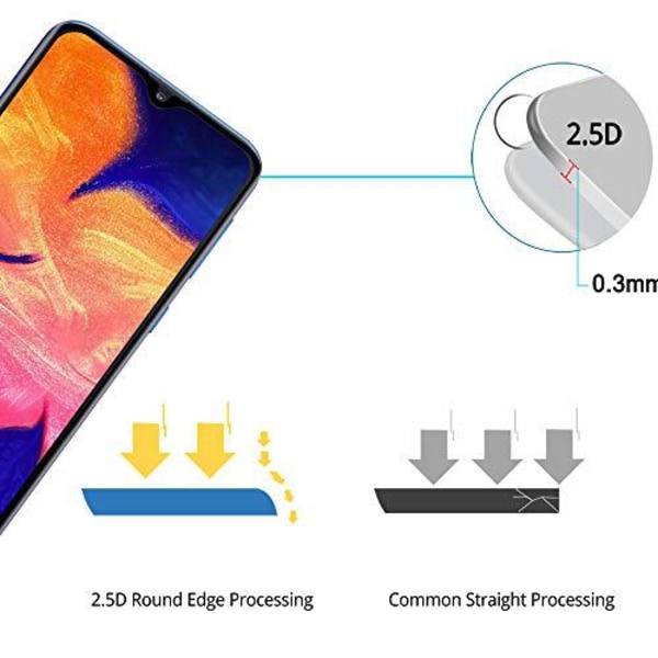 2 st  härdad glas för Samsung A30 Transparent