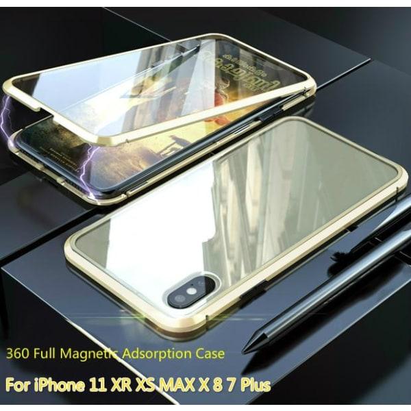 full magnetisk fodral med häradad glas fram och back för iphone