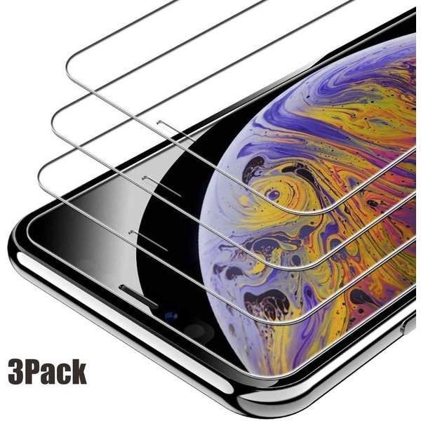 3 st härdad glas för iphone 11