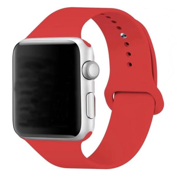Silikon Klockarmband Apple Watch, 42/44mm, Röd
