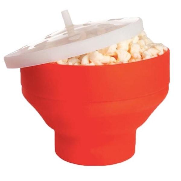 Mikroskål till popcorn, orange