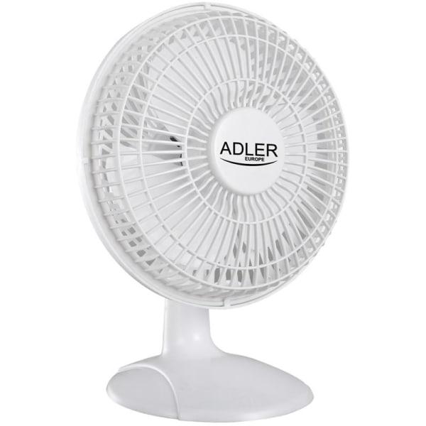 Adler Fläkt 15 cm med Klämma och Stativ, Vit