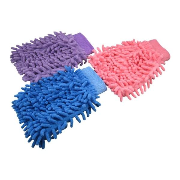 Tvättvante i mikrofiber (Blå)