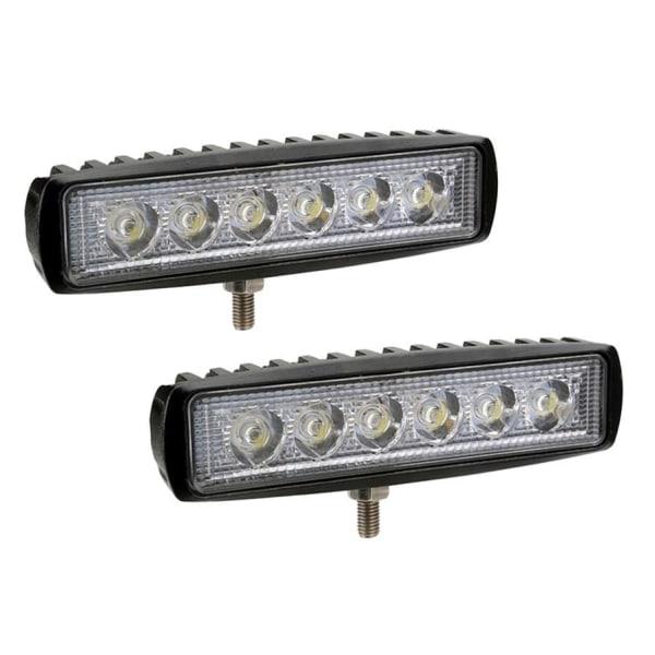 2-pack LED-ramp - Arbetsljus, backljus 36W