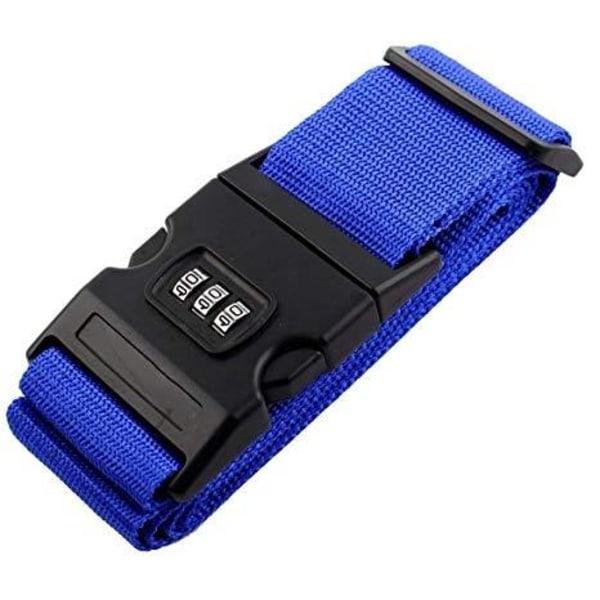 Bagageband med kodlås - Mörkblå