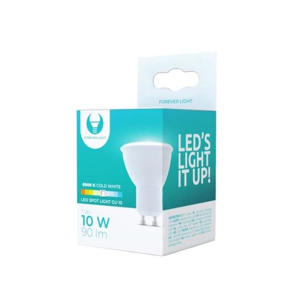 LED-Lampa GU10, 1W, 230V, 6000K, 90lm, Kallvit