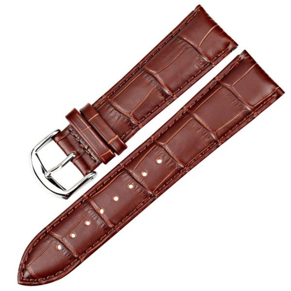 Stilsäkert Vintage-Design Klockarmband i PU-Läder Svart 22mm