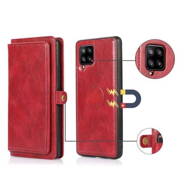 Genomtänkt 2-1 Plånboksfodral - Samsung Galaxy A42 Mörkblå