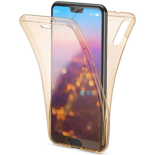 Stötdämpande Praktiskt Dubbelsidigt Silikonskal - Huawei Y6 2019 Guld