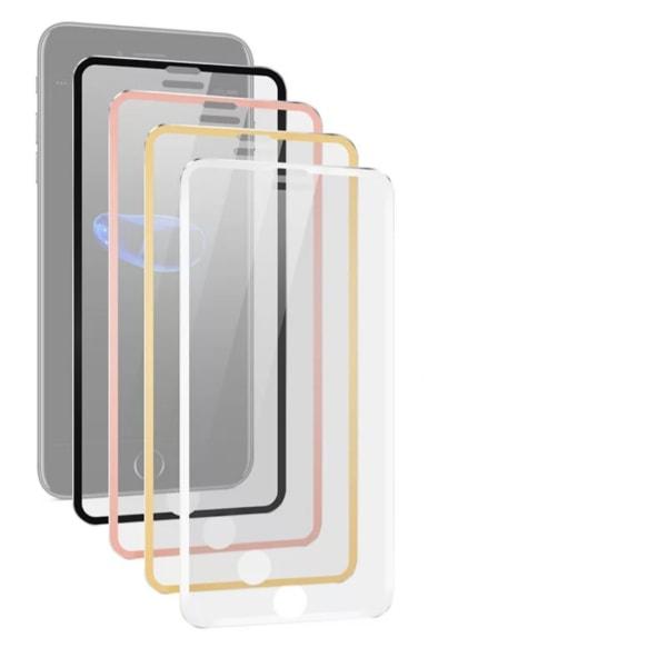 HuTech Skärmskydd med Aluminiumram för iPhone XR Guld