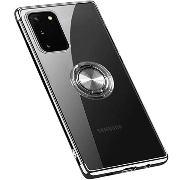 Praktiskt Skal med Ringhållare - Samsung Galaxy A02S Blå