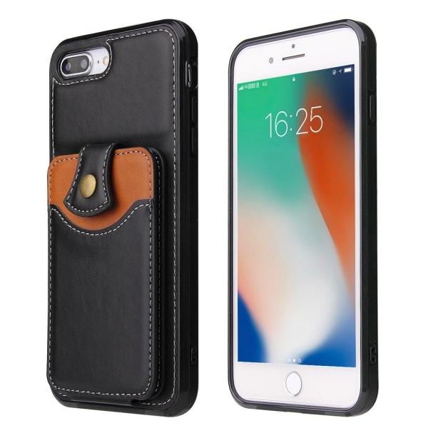 Kraftfullt Skal med Kortfack - iPhone 8 Plus Grå