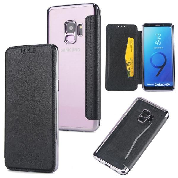 Praktiskt Fodral med Kortfack för Samsung Galaxy S9 Blå