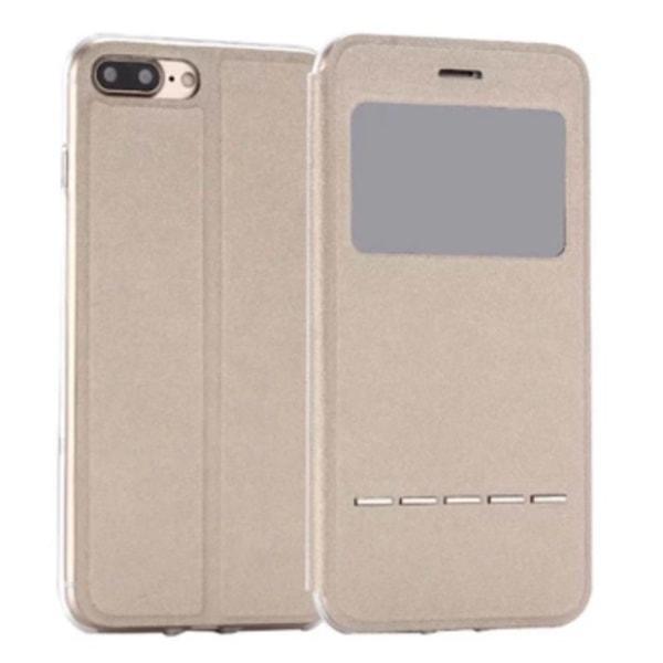 Smartfodral Fönster & Svarsfunktion till iPhone 8 Stilsäkert Blå