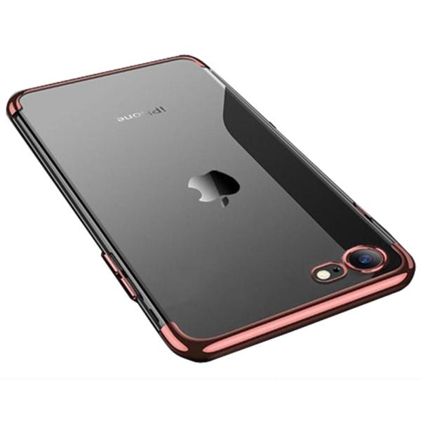 Elegant Exklusivt Skyddande Silikonskal för iPhone 8 (MAX SKYDD) Silver