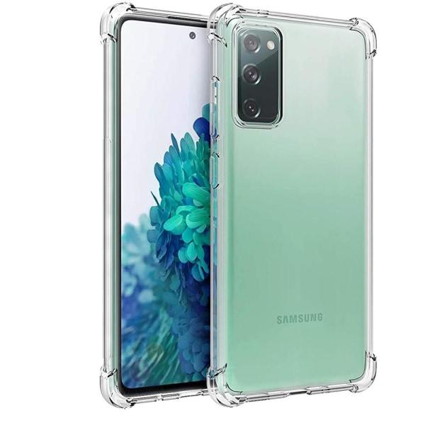 Skyddande FLOVEME Silikonskal - Samsung Galaxy S20 FE Rosa/Lila
