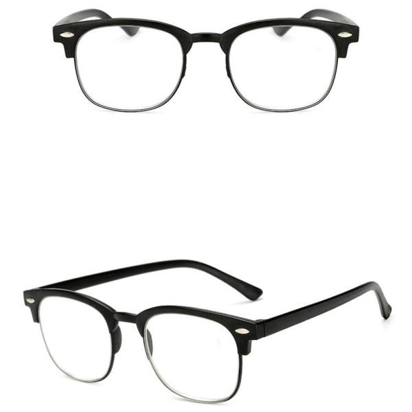 Stilrena Läsglasögon med Styrka +1.0-+4.0 Svart +4.0