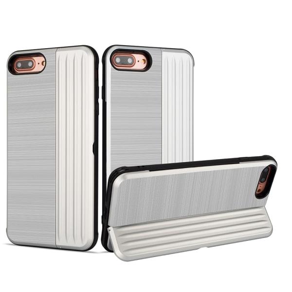 LEMAN Stilrent Skal med kortplats för iPhone 7 Plus Rosa