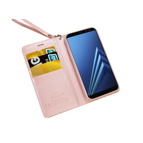 Samsung Galaxy A6 Plus - Plånboksfodral i PU-Läder av Hanman Lila
