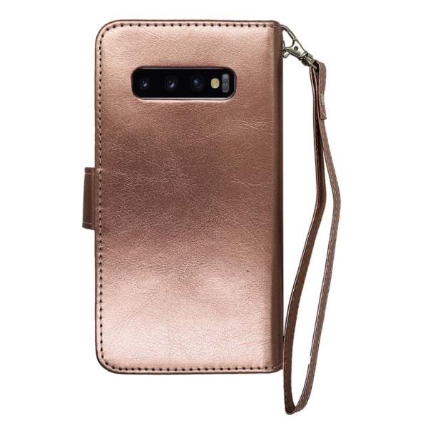 9-Korts Smidigt Plånboksfodral Royben - Samsung Galaxy S10 Svart