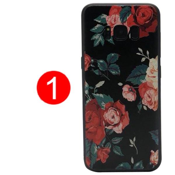 Samsung Galaxy S8Plus - Skyddande Blomsterskal 1