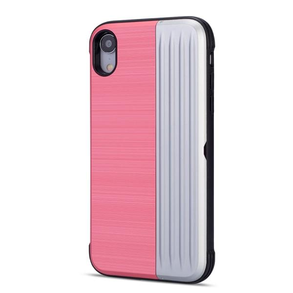 LEMAN Stilrent Skal med kortplats för iPhone XR Rosa