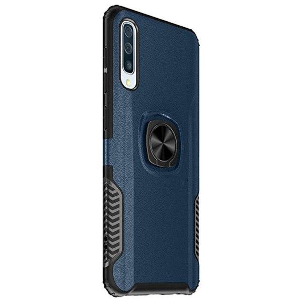 Stötdämpande Skal med Ringhållare LEMAN - Samsung Galaxy A50 Marinblå