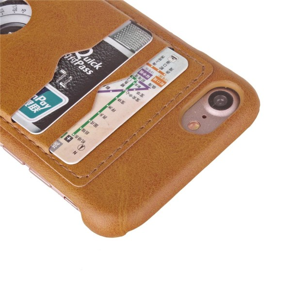LEMANS Smarta Skal med Korthållare till iPhone 8 Grön