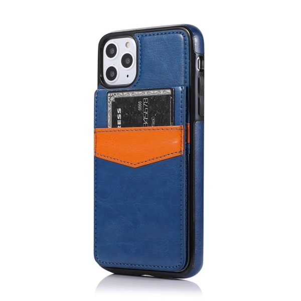 Praktiskt Stilrent Skal med Kortfack - iPhone 12 Pro Mörkblå