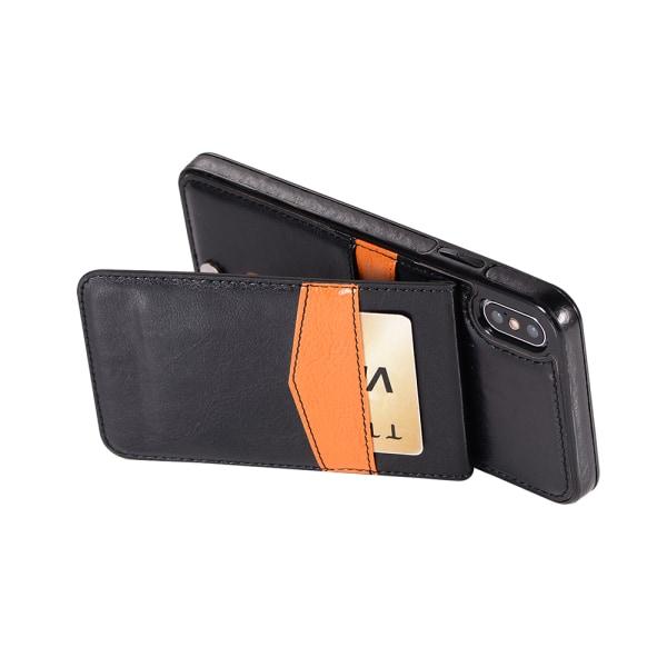 iPhone XR - Skal med Plånbok & Kortfack Svart