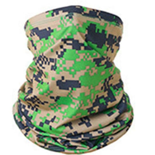 Bekväm Militär Kamouflage Halsduk, Ansiktsmask, Pannband Orange