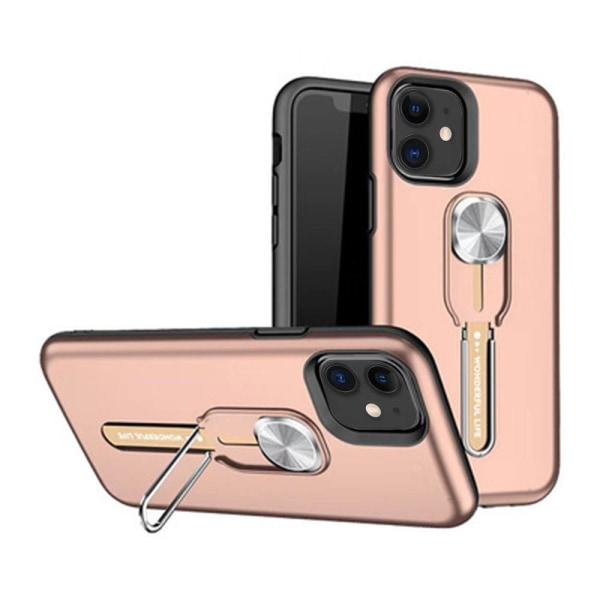 Elegant Skal med Hållare - iPhone 12 Silver