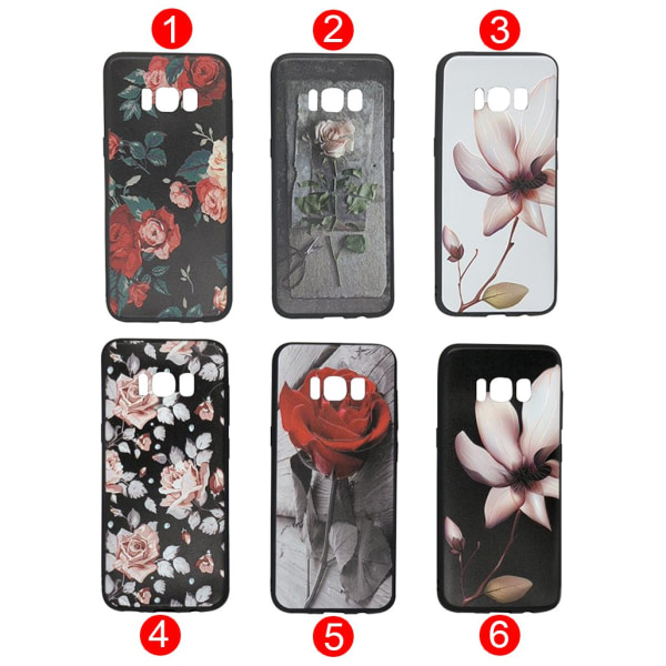 "Silikonskal ""Summer Flowers"" för Samsung Galaxy S8Plus 6"