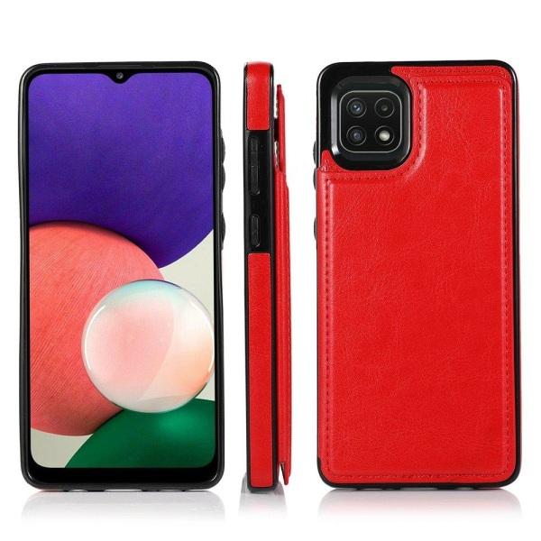 Smidigt Skal med Kortfack - Samsung Galaxy A22 5G Röd
