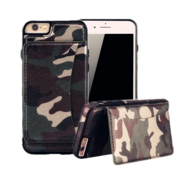 Händig militär mönstrat plånboksskal till iPhone 6/6S PLUS Grön