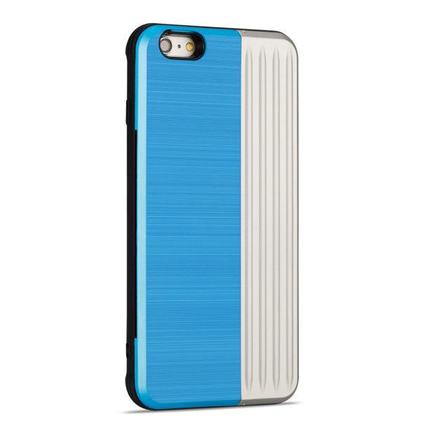 EXXO-Skyddsskal med plats för kort för iPhone 6/6S Plus Blå