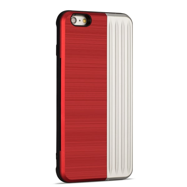 Skyddande Skal med kortförvaring till iPhone 6/6S Plus (EXXO) Röd