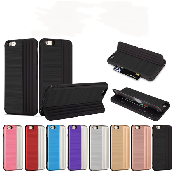 LEMAN Stilrent Skal med kortplats för iPhone 6/6S Plus Roséguld