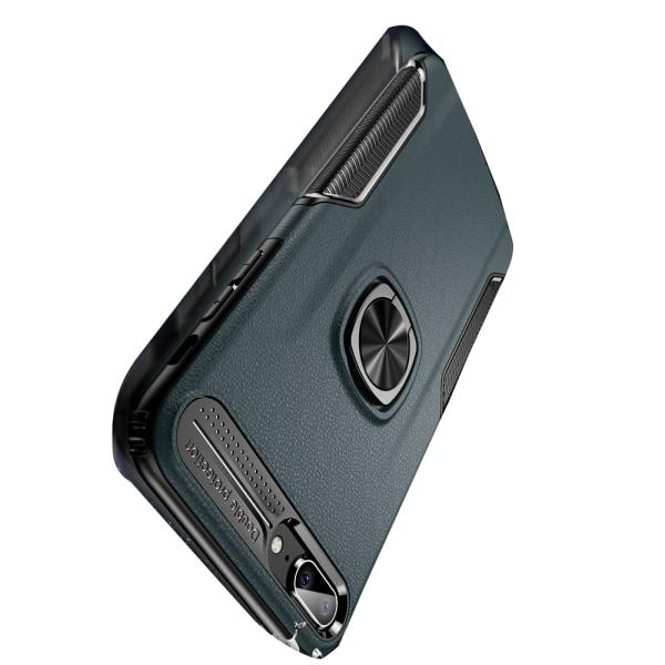 iPhone 7+ - Elegant Skal med Kickstand (LEMAN) Marinblå
